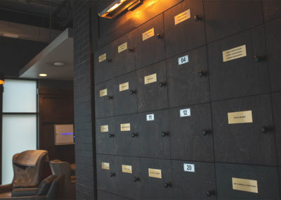 Storage lockers at Capital Cigar Lounge